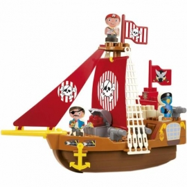 Set Cuburi de Construit Barca Piratilor Abrick
