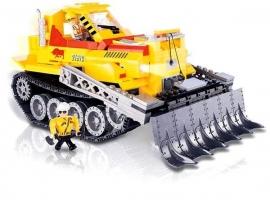 Set de construit Buldozer cu bluetooth si telecomanda 480 piese