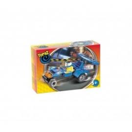 Set de construit-Masina de curse albastra-40 piese