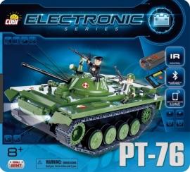 Set de construit tanc PT-76 cu buletooth si telecomanda