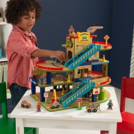 Set de joaca Wash N Go Wooden Car Garage - Kidkraft