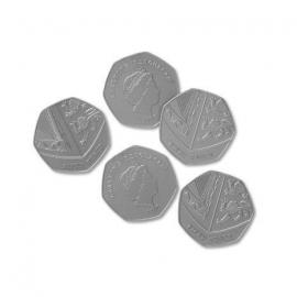 Set de monede de jucarie (50 penny)