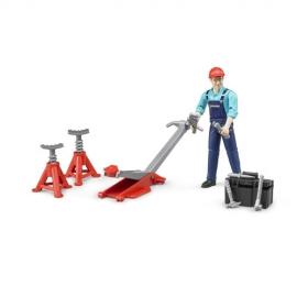 Set figurina mecanic cu accesorii