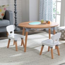 Set masa cu 2 scaune - Mid-Century Kid™ Toddler Table & 2 Chair Set -  kidkraft
