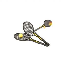 Set rachete tenis cu minge galbena