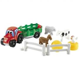 Set Tractoras cu Remorca si Animale