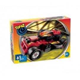 Seturi de construit-Masina de curse rosu-61 piese