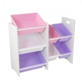 Spatiu depozitare jucarii 7 Bin Storage Unit Pastel & White – KidKraft