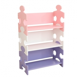 Spatiu depozitare Puzzle Bookshelf, Pastel - Kidkraft