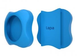 Suport din silicon pentru atasat la zgarda localizatorul bluetooth Lapa - Culoare - Bleu