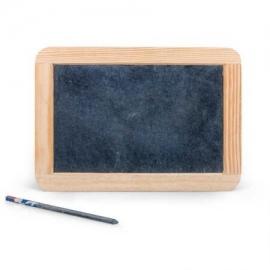 Tabla de scris, ardezie, cu rama de lemn