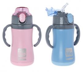 Termos copii cu manere, 300 ml, EcoLife - Culoare - Roz