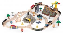 Trenulet din lemn Bucket Top Construction cu set de accesorii - KidKraft
