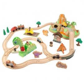 Trenulet din lemn Bucket Top Dinousaur - KidKraft
