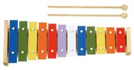 Xilofon Metallophone - 12 note colorate