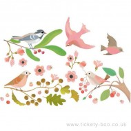 Abțibilduri Djeco pentru fereastră, păsări romantice