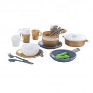 Accesorii pentru bucătărie 27 Piece Cookware Set Modern Metallics - KidKraft