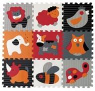 Babygreat Covoras Puzzle Animalute Fericite 92x92 cm