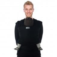 Babylonia sistem de purtare wrap elastic Tricot Slen Organic BLACK