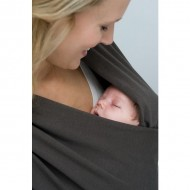Babylonia sistem de purtare wrap elastic Tricot Slen Organic Dark Grey