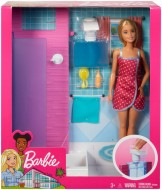 BARBIE SET BAIE CU DUS SI PAPUSA BLONDA