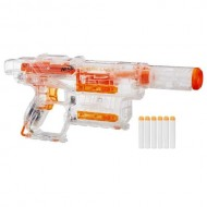 Blaster Transparent Nerf Modulus Ghost Ops Shadow ICS-6 cu 6 Proiectile