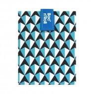 Boc'n'Roll Tiles bleu, Ambalaj reutilizabil pentru sandwich