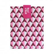 Boc'n'Roll Tiles roz, Ambalaj reutilizabil pentru sandwich