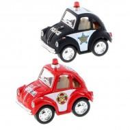 Breloc - Minimodel metalic Little Beetle - Politie/Pompieri
