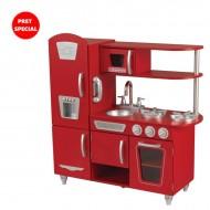 Bucatarie pentru copii Vintage Red - KidKraft