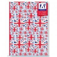 Caiet A5 80 file cu coperti cartonate model steag Marea Britanie