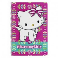Caiet cu spira A4-80 de file colectia Charmmy Kitty Flowers 2
