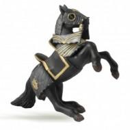 Cal negru in armura - Figurina Papo