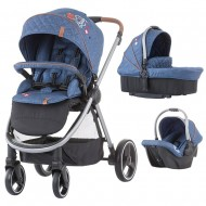 Carucior Chipolino Prema 3 in 1 denim