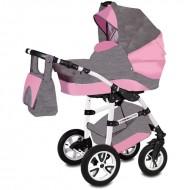 Carucior Flamingo Easy Drive 3 in 1 - Vessanti - Gray/Pink