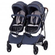 Carucior gemeni Chipolino Duo Smart denim