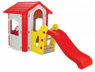 Casuta de joaca cu tobogan  HAPPY HOUSE WITH SLIDE - Pilsan