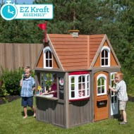 Casuta de joaca Greystone Cottage Playhouse cu EZ Kraft Assembly™ -  Kidkraft