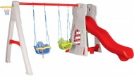 Centru de joaca cu tobogan si leagane - CASTLE SWING AND SLIDE SET
