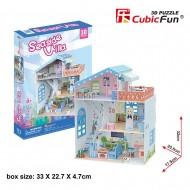 Colectia Casuta papusilor - Vila de la mare - Puzzle 3D - 112 piese
