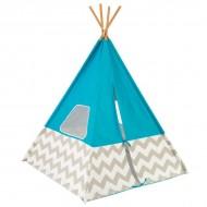 Cort pentru camera Play Teepee Turquoise w/Gray &White Chevron - KidKraft