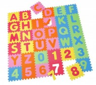 Covoras Puzzle Alfabet Numere, 36 buc, Knorrtoys