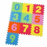Covoras Puzzle Numere, 10 buc. x 30 cm, Knorrtoys