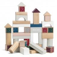Cuburi colorate de construit - 40 piese - Micki