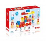 Cuburi de construit din plastic - 50 piese