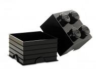 Cutie depozitare LEGO® 2x2 negru