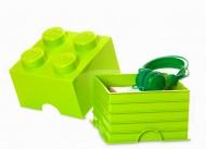 Cutie depozitare LEGO® 2x2 verde deschis