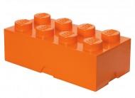 Cutie depozitare LEGO® 2x4 portocaliu