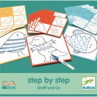 Desenează pas cu pas, grafic Djeco