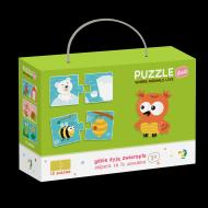 Duo Puzzle - Unde traiesc animalele? (2 piese)